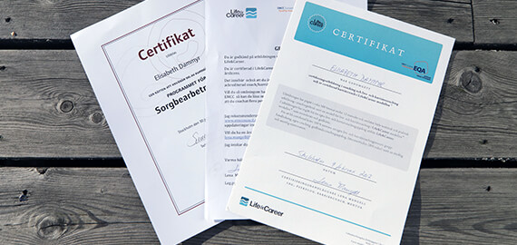 Elisabet Dammyr- Certifikat